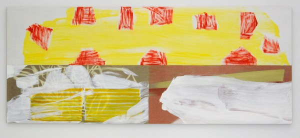 Toon Verhoef - Geen Titel - 90x220cm Acrylverf en olieverf op linnen