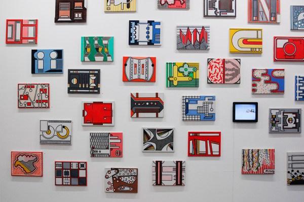 Allard Budding - Diverse werken - 30x40cm, Houtskool en acrylverf op canvas