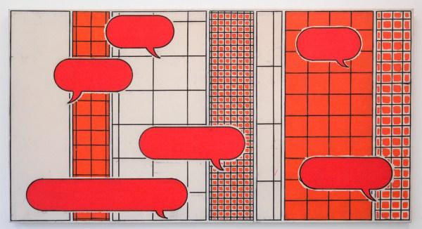 Allard Budding - Zonder Titel - 101x189cm, Houtskool en acrylverf op canvas