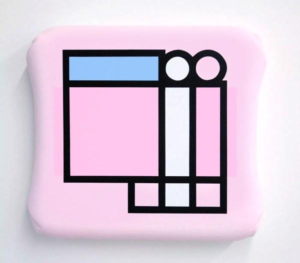 Sergio De Beukelaer – diff pink – 71x72x11cm Gepigmenteerde acrylverf op fat canvas