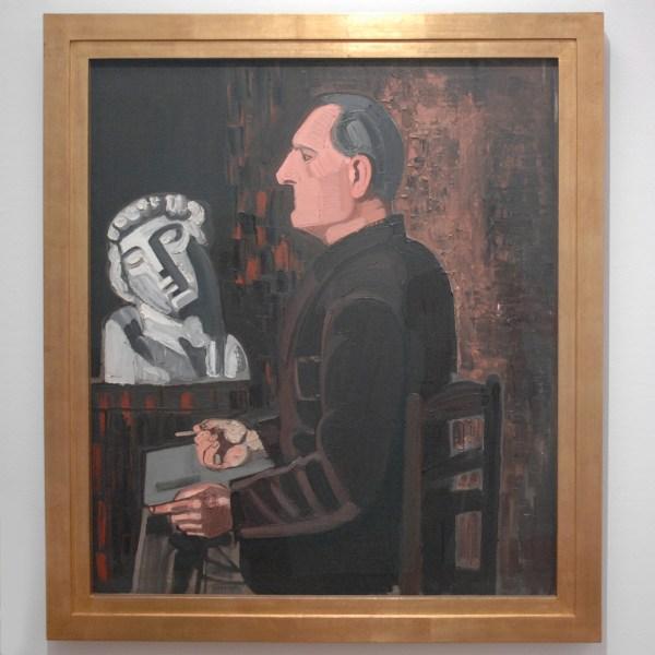 Jean Brusselmans - Autoportrait A L'Esclave (Zelfportret met Slaaf) - Olieverf op doek, 1934