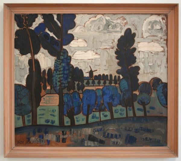 Jean Brusselmans - De Luizenmolen - Olieverf op doek, 1937