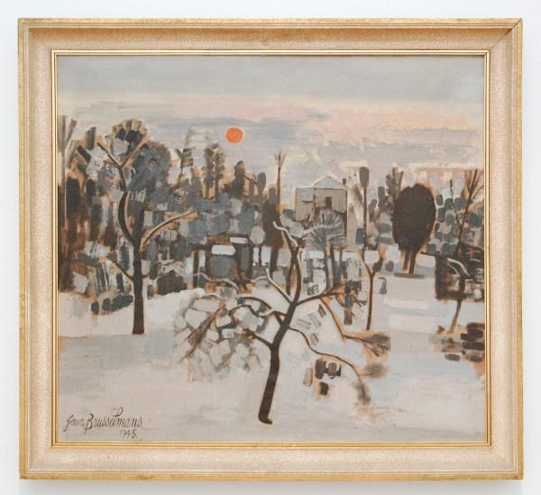 Jean Brusselmans - Hiver A Dilbeek (Winter te Dilbeek) - Olieverf op doek, 1945