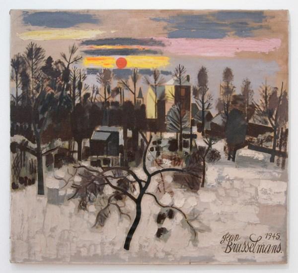 Jean Brusselmans - Winter in Dilbeek - Olieverf op doek, 1945