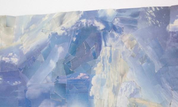 Martin van Zomeren - Matt Byrans - Untitled - Krantenpapier met lucht (detail)