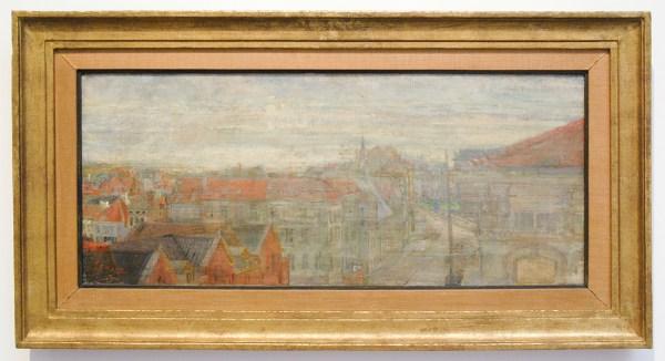 James Ensor - Een zicht op Phnoisie, Lumineuze golven en vibraties - Olieverf op doek, 1890