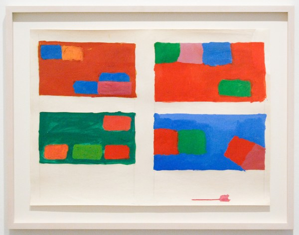 Sean Scully - Abstract (Four Rectangles) - Plakkaatverf, oliepastel en grafiet op papier, 1966