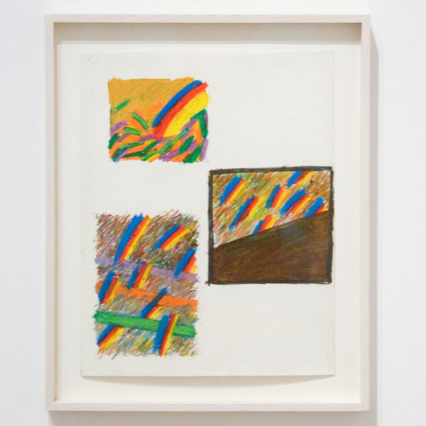 Sean Scully - Three Rectangles of Colorfull Abstract Stripes - Oliepastel op papier