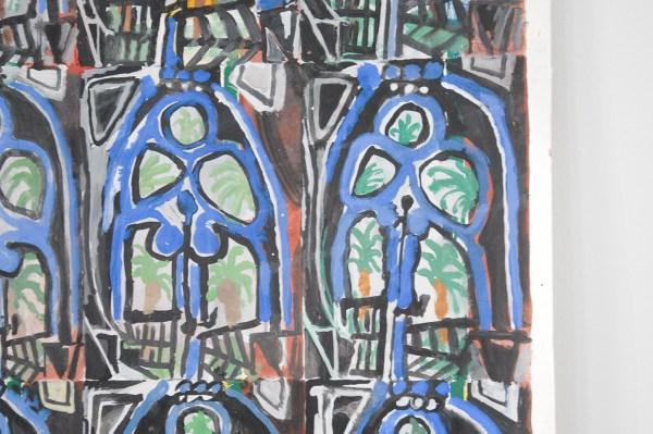 Marijn van Kreij - Untitled (Picasso, the Studio, 1956) - 195x152cm, Gouache, Acrylverf en potlood op papier (detail)