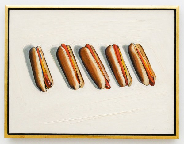 Wayne Thiebaud - Five Hot Dogs - 1961