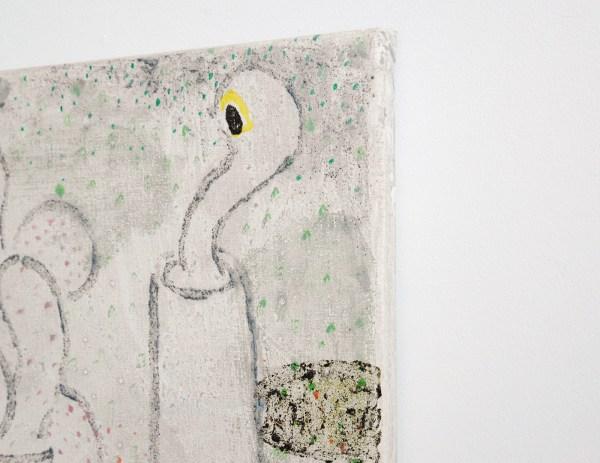 Derk Thijs - Furnace - 60x45cm Acrylverf en caseine op linnen (detail)