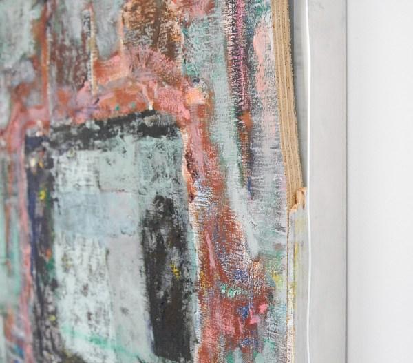 Derk Thijs - Protean - 74x51cm Olieverf op hout en aluminium (detail)