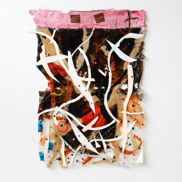 Derk Thijs - Seatangle - 67x49cm Acrylverf en papier op stof