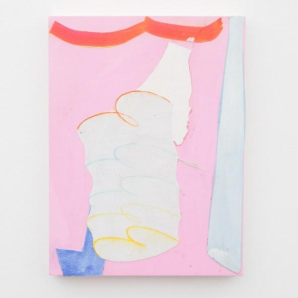 Paul Drissen - Untitled - 40x30cm Gouache , papier, doek en dispersie op hout