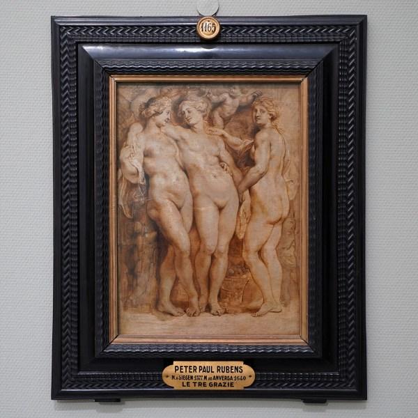 Peter Paul Rubens - De drie gratien - Olieverf op paneel, circa 1630