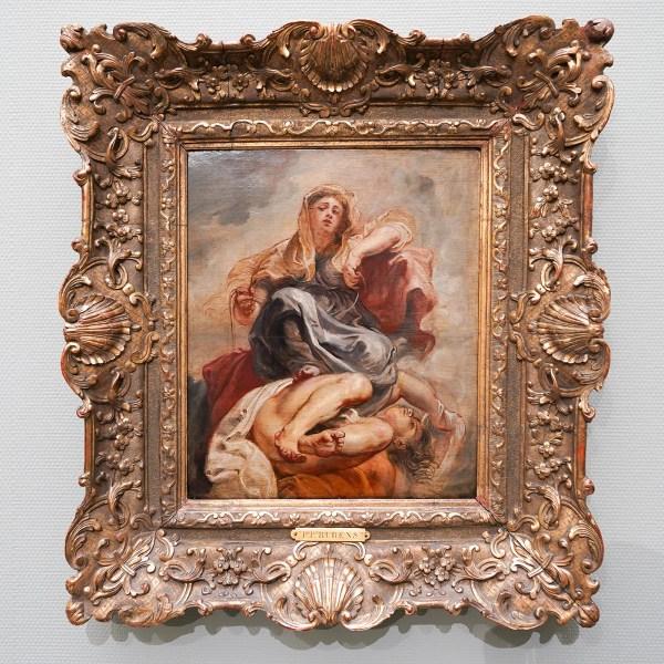 Peter Paul Rubens - De Zedige matigheid overwint de onbeschaamdheid - Olieverf op paneel, 1632