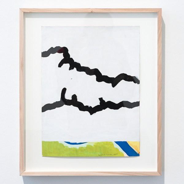 Raoul de Keyser - Camping - Potlood, inkt, aquarel en acrylverf op papier op karton, 1969