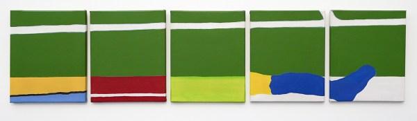 Raoul de Keyser - Onderbroken Kalklijn - Acrylverf en dispersie op doek, 1970Raoul de Keyser - Onderbroken Kalklijn - Acrylverf en dispersie op doek, 1970