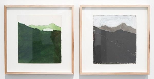 Raoul de Keyser - Coaraze - Potlood, aquarel en acrylverf op geschept lompenpapier, 1976