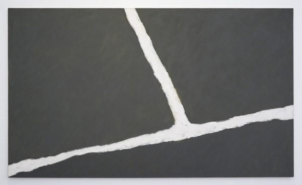 Raoul de Keyser - Krijtlijnen HV - Acrylverf en krijt op doek, 1976