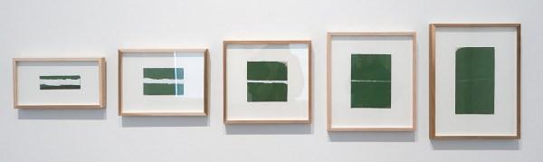 Raoul de Keyser - Zonder Titel - Inkt, acrylverf en gesso op geschept lompenkarton, 1979, 1985