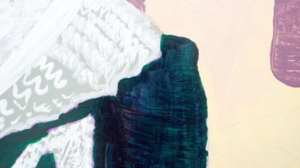Emo Verkerk - Elsie Clews Parsons - 86x99cm Grondverf, olieverf op hardboard (detail)