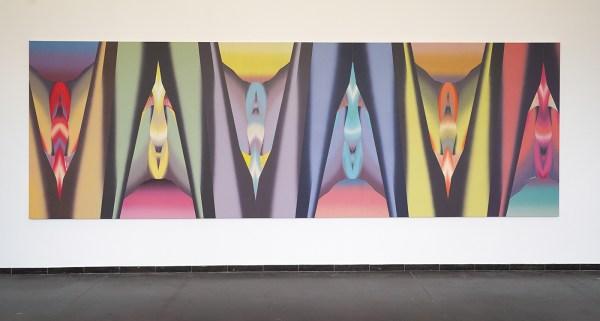 Hadassah Emmerich - Bodyscape - 600x200cm Olieverf op canvas