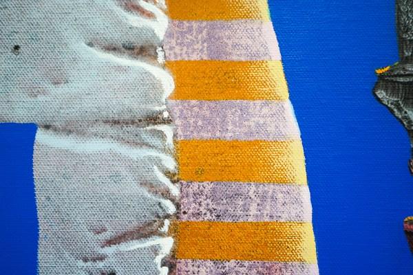 Denie Put - Da-Ba-Dee Da-Ba-Daa - 80x100cm Olieverf en acrylverf op canvas (detail)