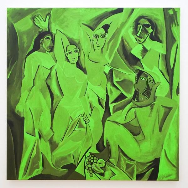 Dieter Durinck - Echo Chamber (Pablo Picasso, Les Demoiselles d'Avignon, 1907) - 80x80cm Olieverf op canvas