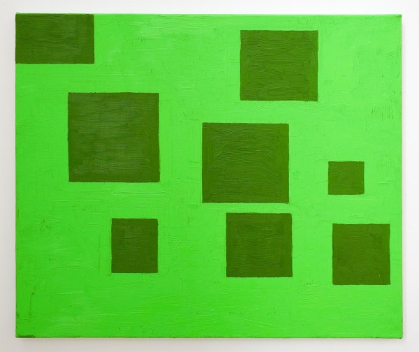 Dieter Durinck - Former Formal Guilt (Blinky Palermo, Composition with 8 Rectangles, 1964) - 50x60cm Olieverf op canvas