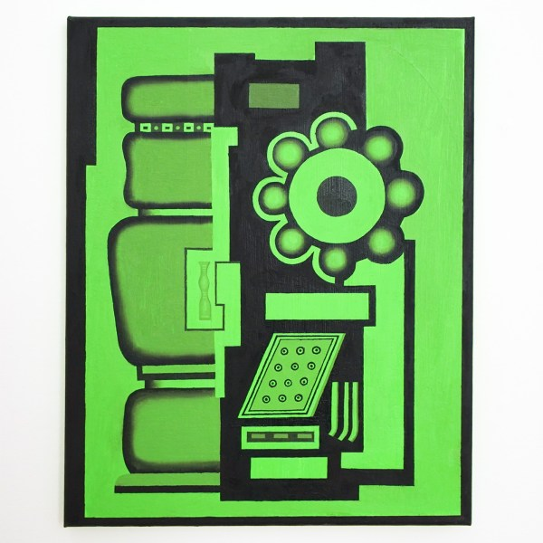Dieter Durinck - Manufacturiong Consent (Fernand Leger, Le Mouvement a Billes, 1926) - 50x40cm Olieverf op canvas