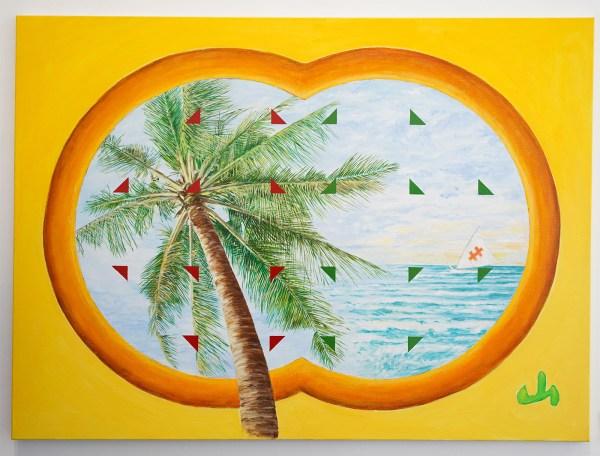 Woody van Amen - Amed Bali - 110x150cm Acrylverf op canvas