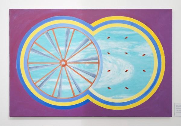 Woody van Amen - Rad van Avontuur - 60x90cm Acrylverf op canvas