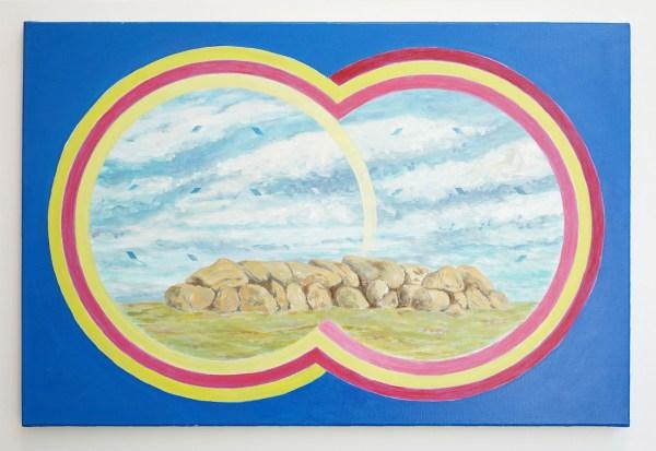 Woody van Amen - Stones at Amen - 60x90cm Acrylverf op canvas