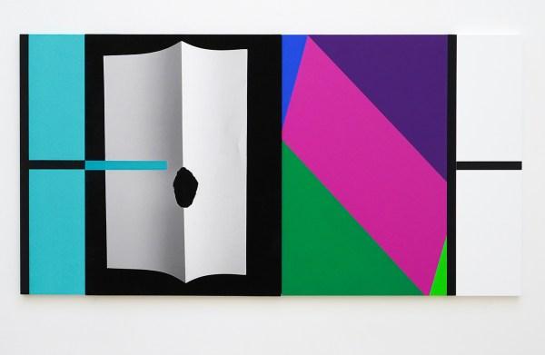 Narcisse Tordoir - Zonder Titel - 60x115x1,5cm Mixed media op houten paneel