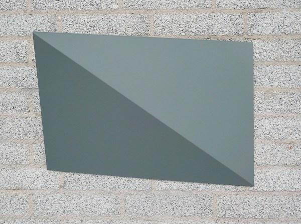 Charlotte Posenenske - Diagonale Faltung (Diagonale Vouw) - Aluminiumplaat en RAL spuitverf, 1966-2012