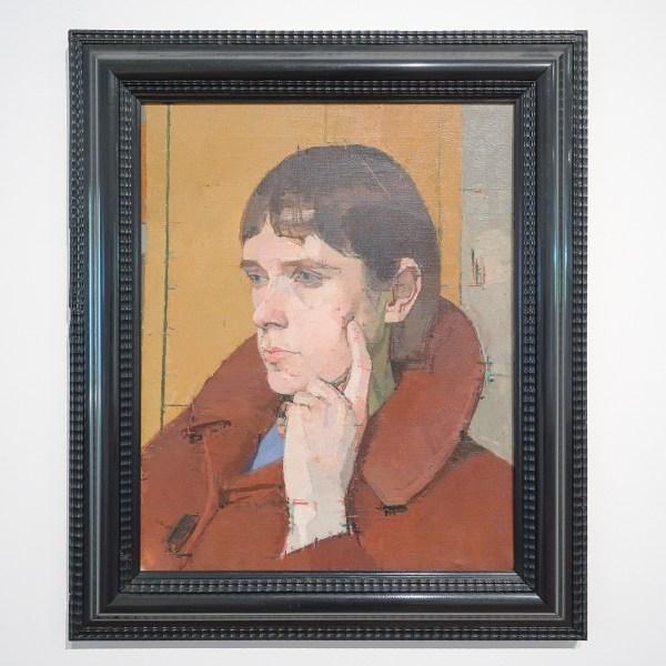 Euan Uglow - Head of Christine - Olieverf op doek, 1964 (detail)
