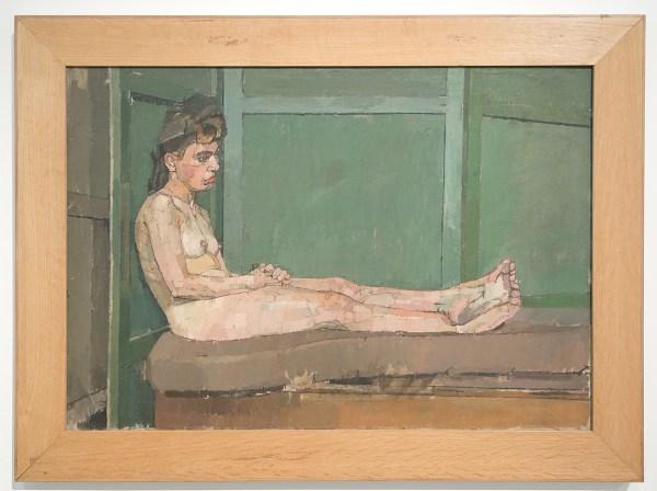 Euan Uglow - Slade Model Against Green Screen - Olieverf op doek, 1953