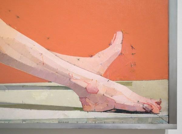 Euan Uglow - The Diagonal - Olieverf op doek, 1971-1977 (detail)