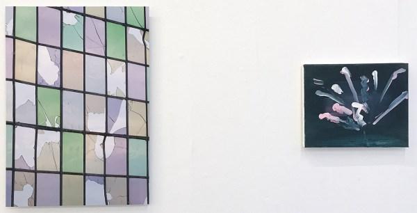 Joris Boekhoven - Broken - 56x40cm Archief print op dibond & Marie Reintjes - Fireworks - 24x30cm, Acrylverf op katoen