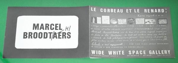 Marcel Broodthaers - Le Corbeau et le Renard -18x24cm Uitnodigingskaart
