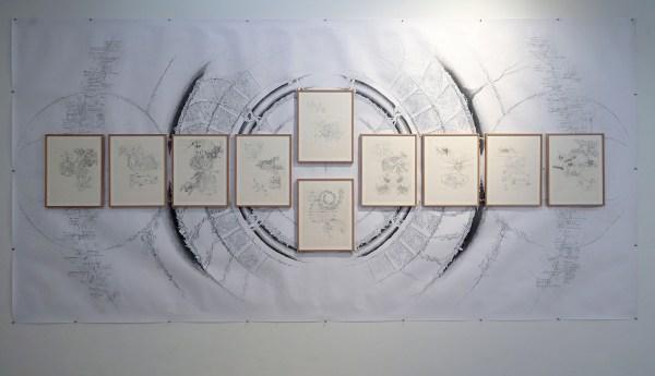 Tasio Bidegain - Diverse werken - 42x39cm Grafiet op papier