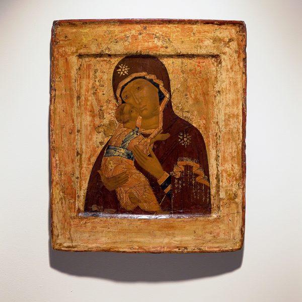 Russisch - Moeder Gods van Vladimir - 32x27cm, Tempera op hout, laat 16e eeuw