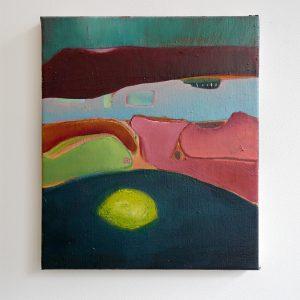 Julius Stibbe - De Zwoele Zomeravond - 35x25cm Olieverf en oilstick op canvas