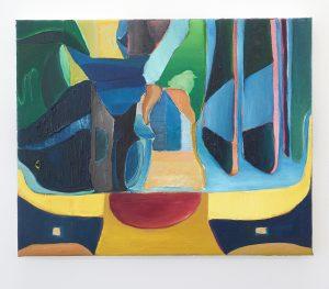 Julius Stibbe - Fly Away - 50x40cm Olieverf en oilstick op canvas