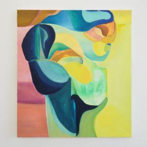 Julius Stibbe - No Title Yet - 100x90cm Olieverf en oilstick op canvas