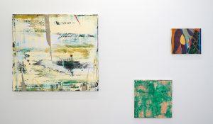 Ronald Zuurmond - In Between - 90x100cm & Small Piece of the Universe II - 45x45cm & Julius Stibbe - Ain't no Sunshine - 25x35cm Olieverf op canvas