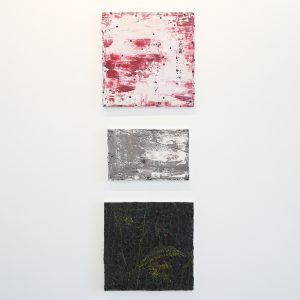 Ronald Zuurmond - Small Piece of the Universe I - 50x50cm & Vloer - 28x45cm & Nacht (Zonnebloem) - 50x50cm Olieverf op canvas