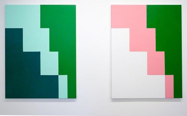 Ido Vunderink - Untitled (Feet of Clay 3,4) & (Feet of Clay 3,5) - 80x60cm Acrylverf op linnen