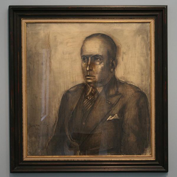 Albert Servaes - Potret van Henri van Abbe - Olieverf op canvas 1937